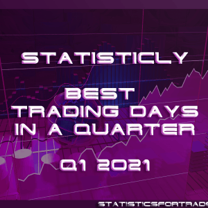 statisticly best trading days in a quarter for Q1 2021