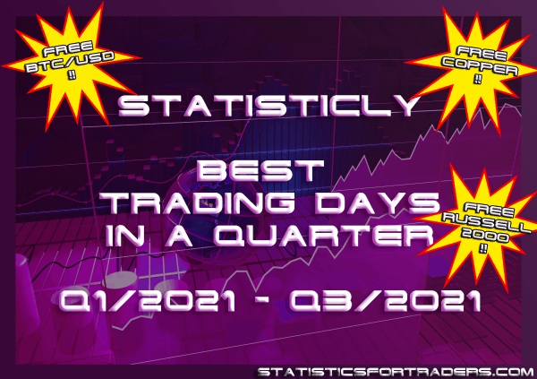 statisticly best trading days in a quarter for Q1/2021 - Q3/2021 [BUNDLE]