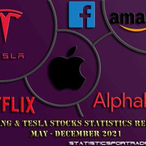 FAANG & Tesla daily statistics report May - December 2021